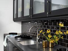 Cocina Rustica Windsor Lack Negro